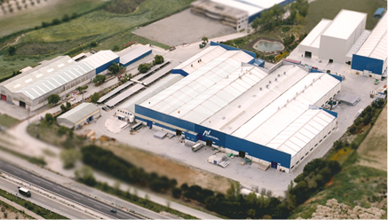 Fábrica y oficinas AV Alumitran Extrusión de Aluminio en Villarejo de Salavanés