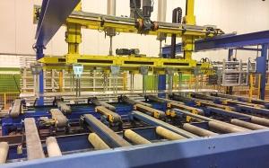 apilador automático perfiles aluminio