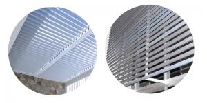 proteccion solar y climatización con aluminio
