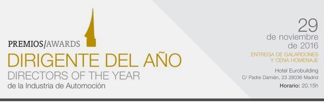 premios dirigente del año automoción 2016