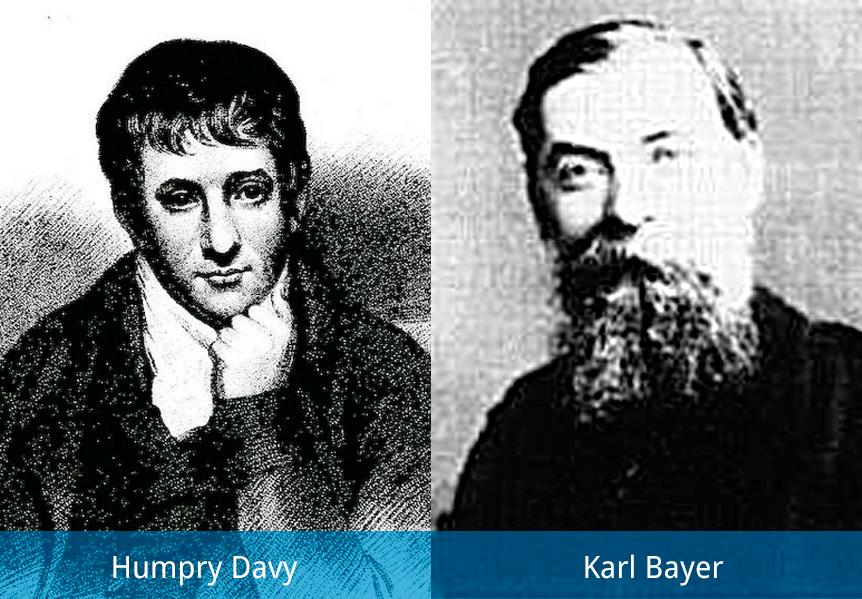 Humphry Davy y Karl Joseph Bayer
