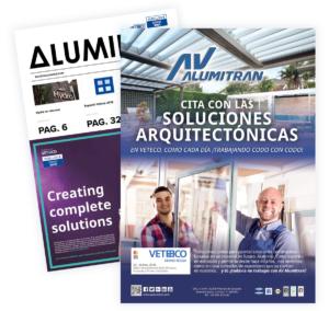 inserción en revista Aluminio especial VETECO 2018
