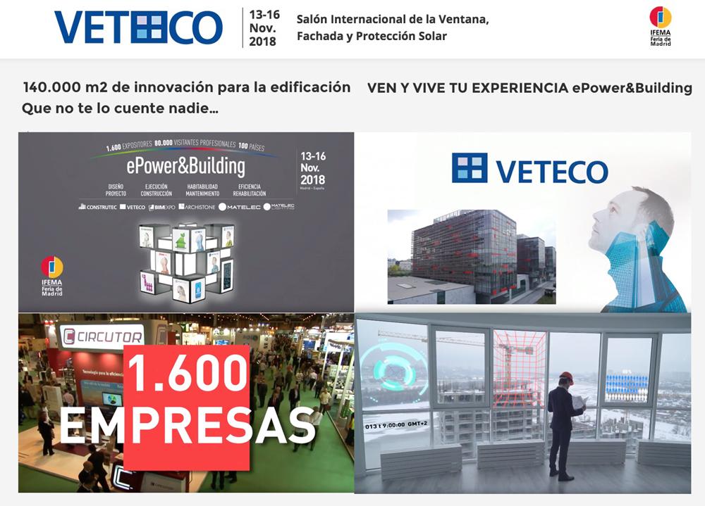 veteco 2018 edificación y aluminio