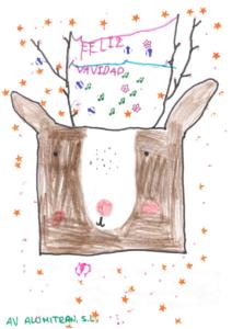 emma martinez ganadora concurso dibujo navideño 2019 infantil