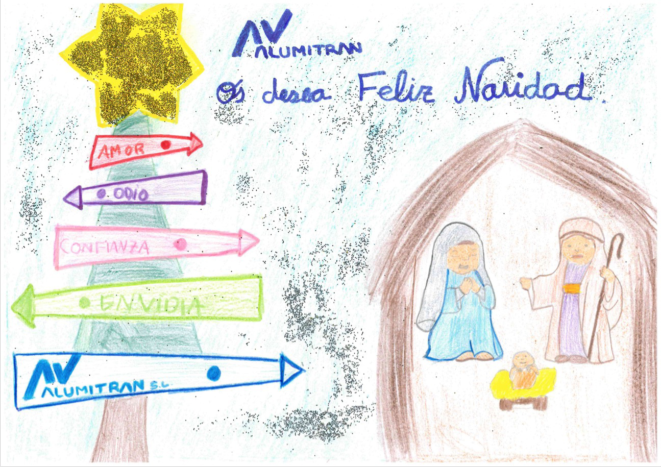 sofia peña ganadora juvenil concurso dibujo navideño 2019