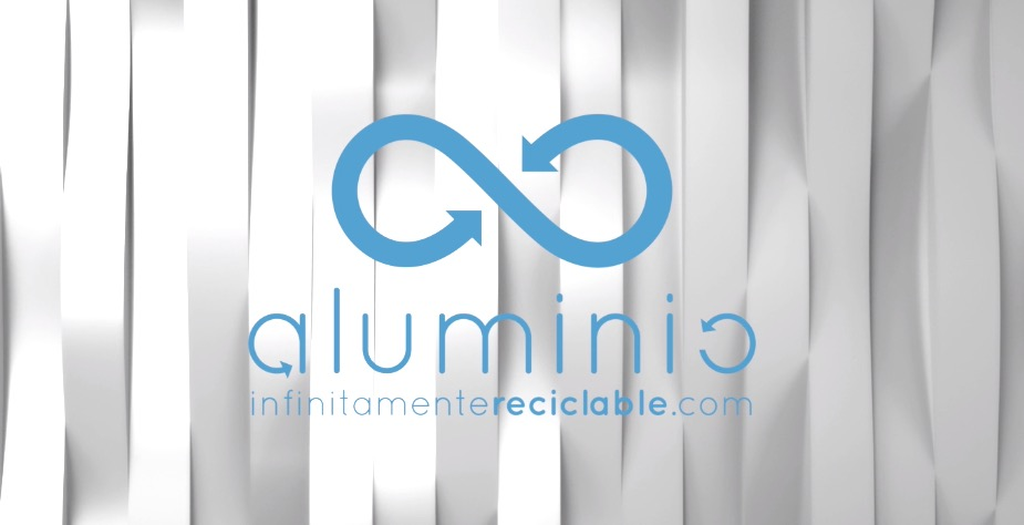 logo aluminio infinitamente reciclable